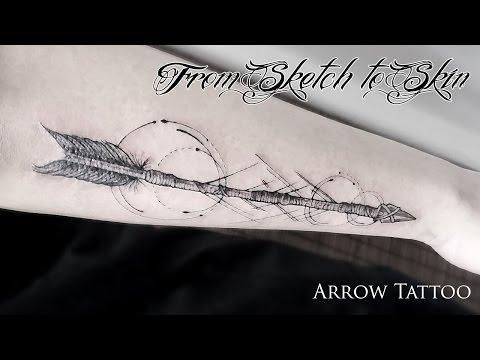 From Sketch to Skin #2 - Arrow Tattoo