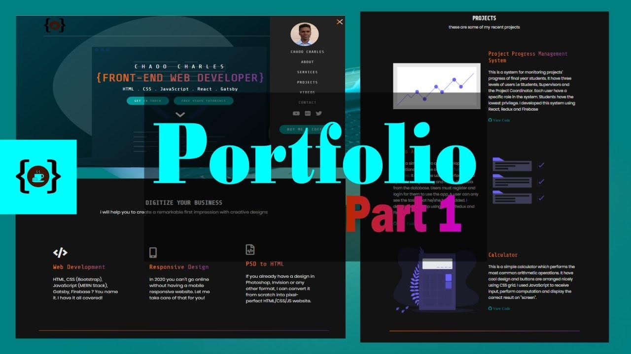 Creating a Responsive Portfolio Website Using Pure HTML, CSS and JavaScript