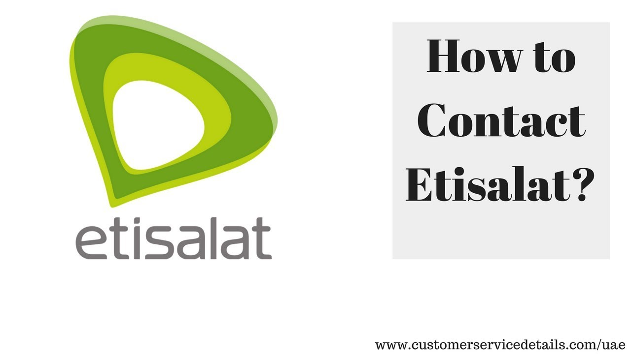 Etisalat Customer Care Number, Head Office Address, Email ID, Website