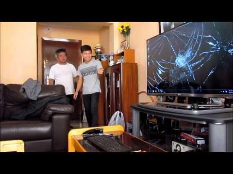 Broken tv screen prank hahaha youtube - How to do the broken tv screen prank ...