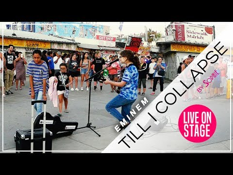 Till I Collapse - Eminem  (Cover by Sophie Pecora) at Venice Beach California