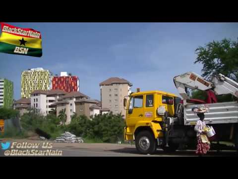 Driving through Lapaz, Dzorwulu and Accra Mall in Accra, Ghana