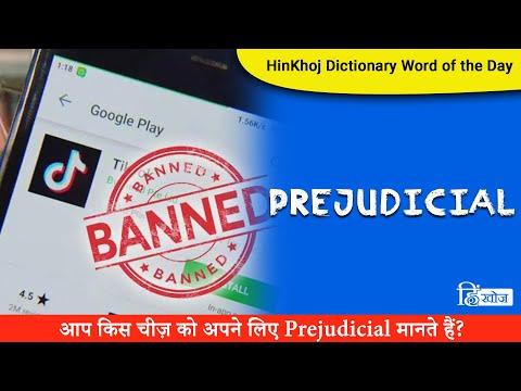 Prejudicial In Hindi - HinKhoj - Dictionary