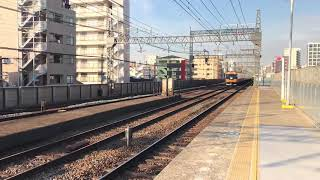 【朝の複々線の一幕】近鉄大阪線奈良線今里駅