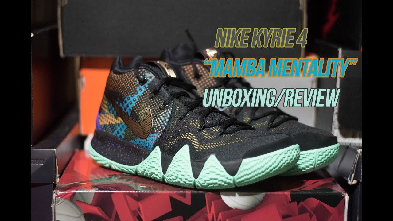 ba687e3be2a5 Kyrie 4 Mamba Mentality  Sneaker Unboxing and Review - YouTube