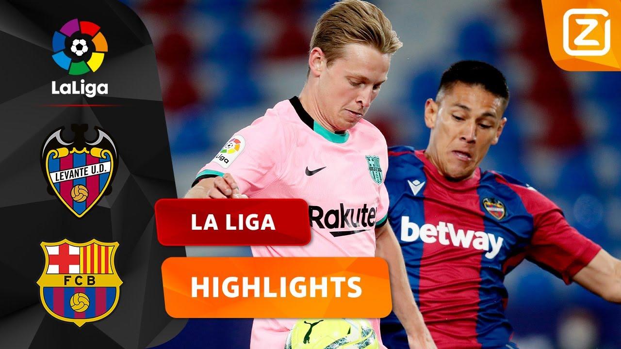 WAT EEN VERMAKELIJKE WEDSTRIJD! 🔥 | Levante vs Barcelona | La Liga 2020/21 | Samenvatting