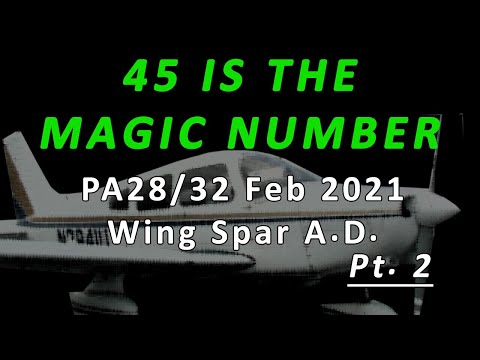 Why you may never need to worry about the Feb 2021 Piper PA-28/32 wing spar AD
