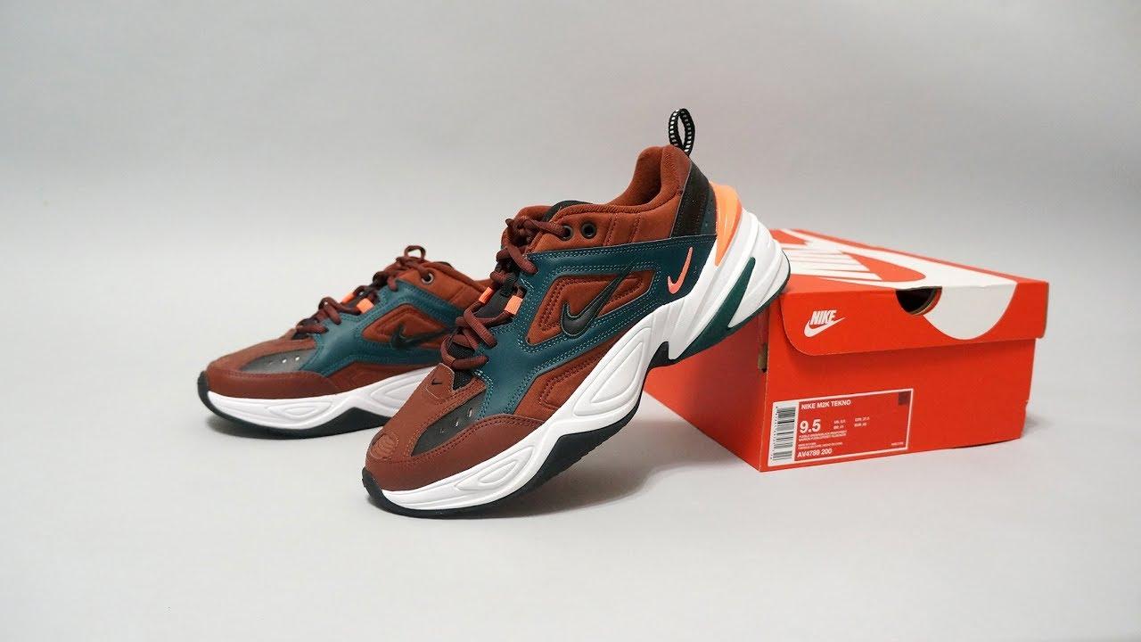 56212ae57f63 Nike M2K Tekno (Pueblo Brown   Black - Rainforest) AV4789-200 - YouTube