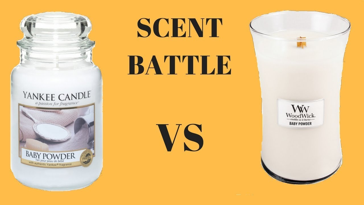 Scent Battle Baby Powder Yankee Candle Vs Woodwick