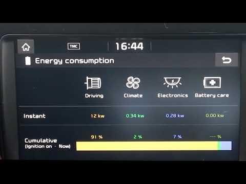 Kia e-Niro - EV information screen showing Instant Power