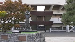20190827 スタルヒン像の周辺 スタルヒン球場(花咲スポーツ公園硬式野球場)  2