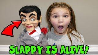 Slappy Is Alive! Escape Slappy! Slappy Caught Moving On Camera