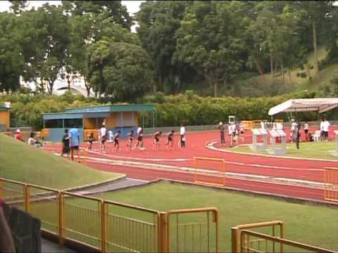 POLITE men's 100m final