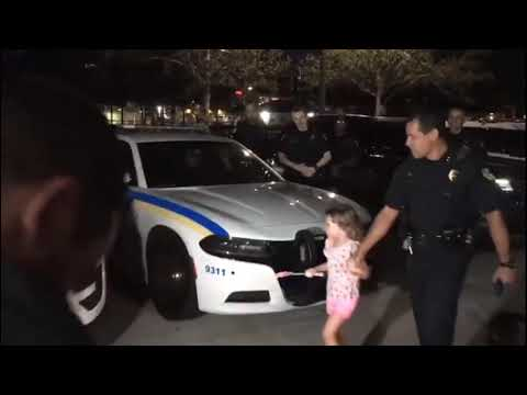 The Wake Up Show - Watch: Adorable Little Girl Lights Up Police Cars With Her 'Magic' Wand