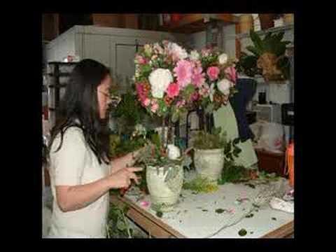 Wedding Flowers Topiary Creation