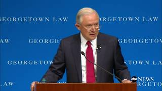 Attorney General Jeff Sessions remarks on free speech on college campuses Free HD Video