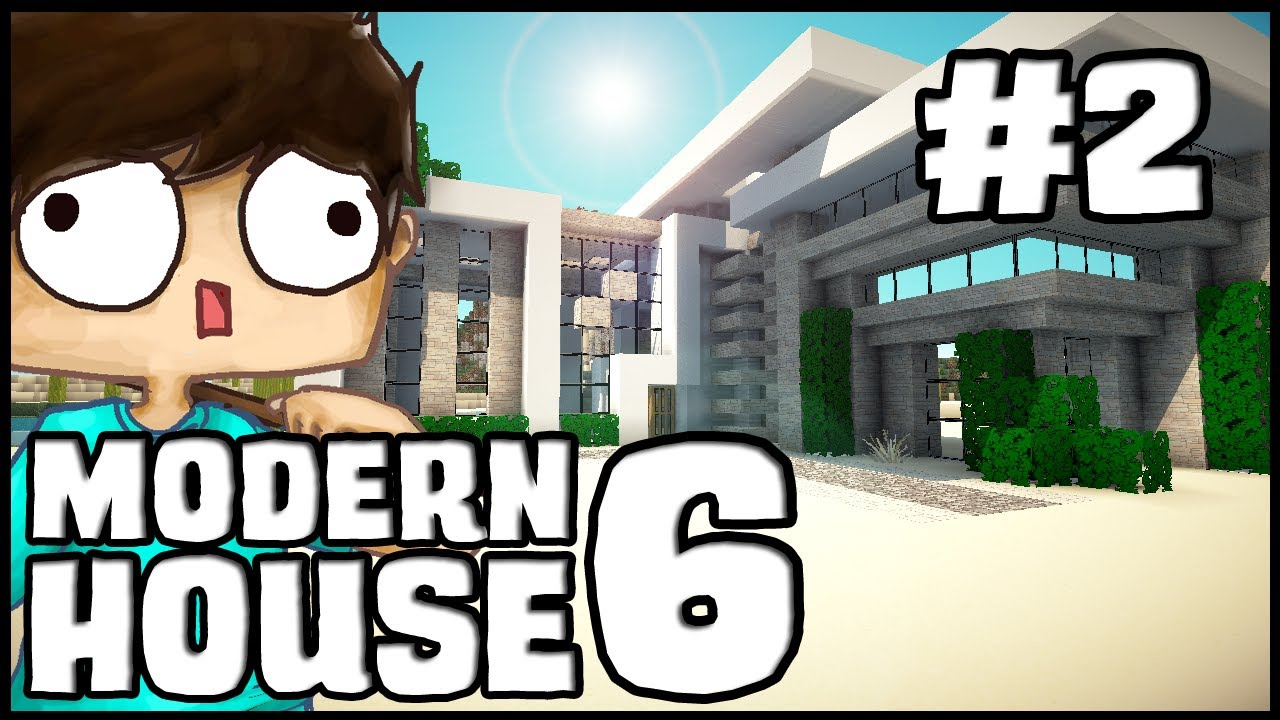 Minecraft lets build modern house 6 part 2 youtube for Modern house 6 part 2