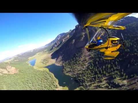 Beautiful Flight over Creede Valley, Colorado