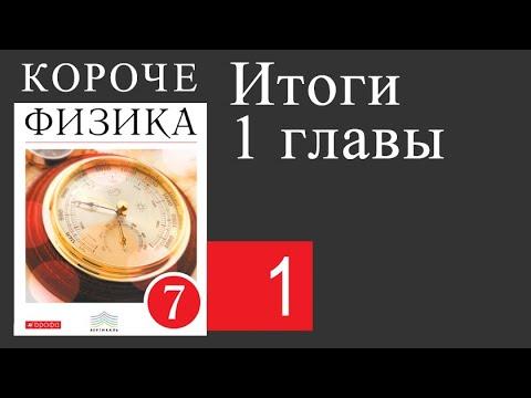Физика 7 класс. 1 глава. Итоги 1 главы