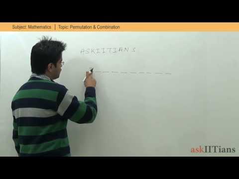 IIT JEE Mathematics- Permutation and Combination concepts