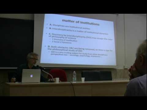 Uskali Maki (University of Helsinki)' Discovery by interdisciplinarity'