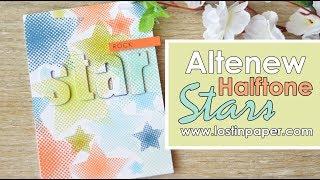 Altenew Halftone Stars Focus Post - Background Stamping & Inlaid Die Cutting!