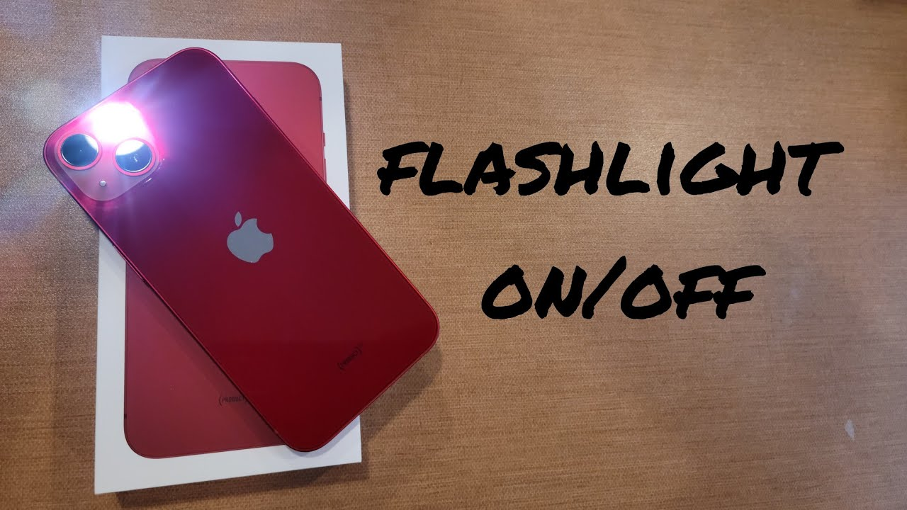 how to turn the flashlight on/ off iphone 13