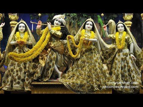 Mangal Arati Darshan   Sri Sri Radha Gopinath Temple   18th Feb 2019   ISKCON Chowpatty,Mumbai