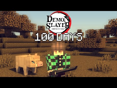 I Played Minecraft Demon Slayer For 100 DAYS… This Is What Happened