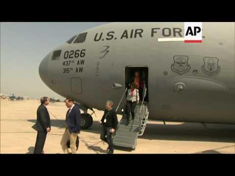 Kerry arrives in Iraq