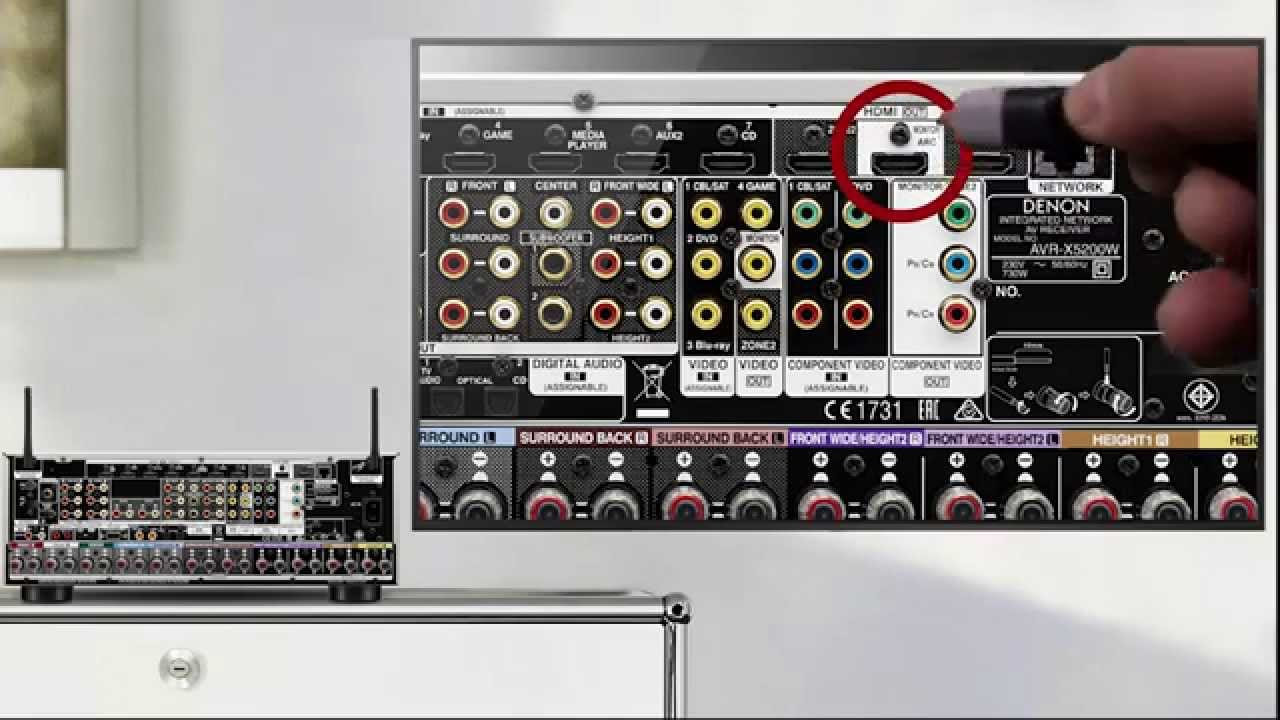 Av Receiver Wiring Diagram Electrical Installation Building How To Get Tv Audio Via Your Denon With An Arc Connection Youtube