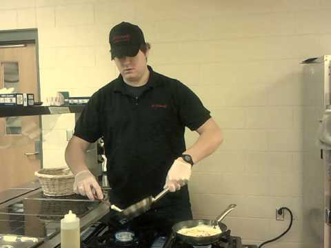 Chef Alex of A'viands Making Omelets for Northland Pines High School Students