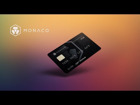 Monaco Visa Fund your card with ETHEREUM/BITCOIN