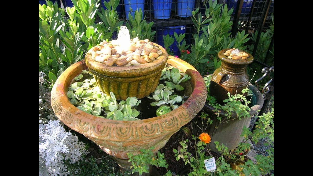 Make Your Own Water Feature, No Mas! Style! - YouTube