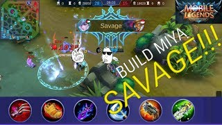 TUTORIAL & BUILD MIYA SAVAGE DI RANKED GAME!!! - mobile legends