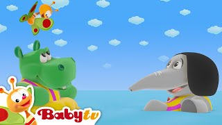 The Tiny Bunch | Baby and Hippo at the Beach | BabyTV