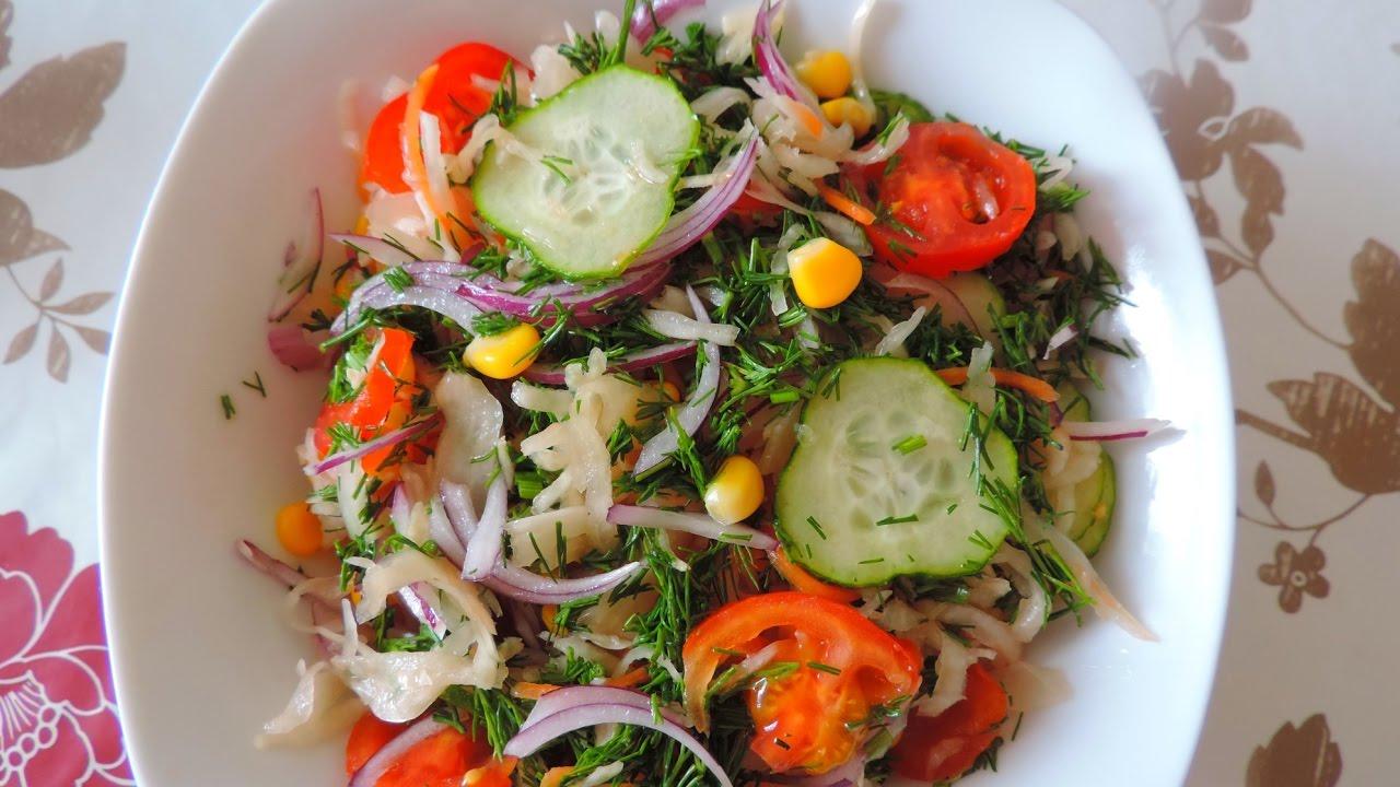 простой овощной салат рецепт с капустой