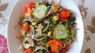 Овощной салат с кислой капустой. Очень вкусный!!!