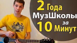 2 года Музшколы за 10 минут! Как Разбирать Песни на Гитаре Самостоятельно