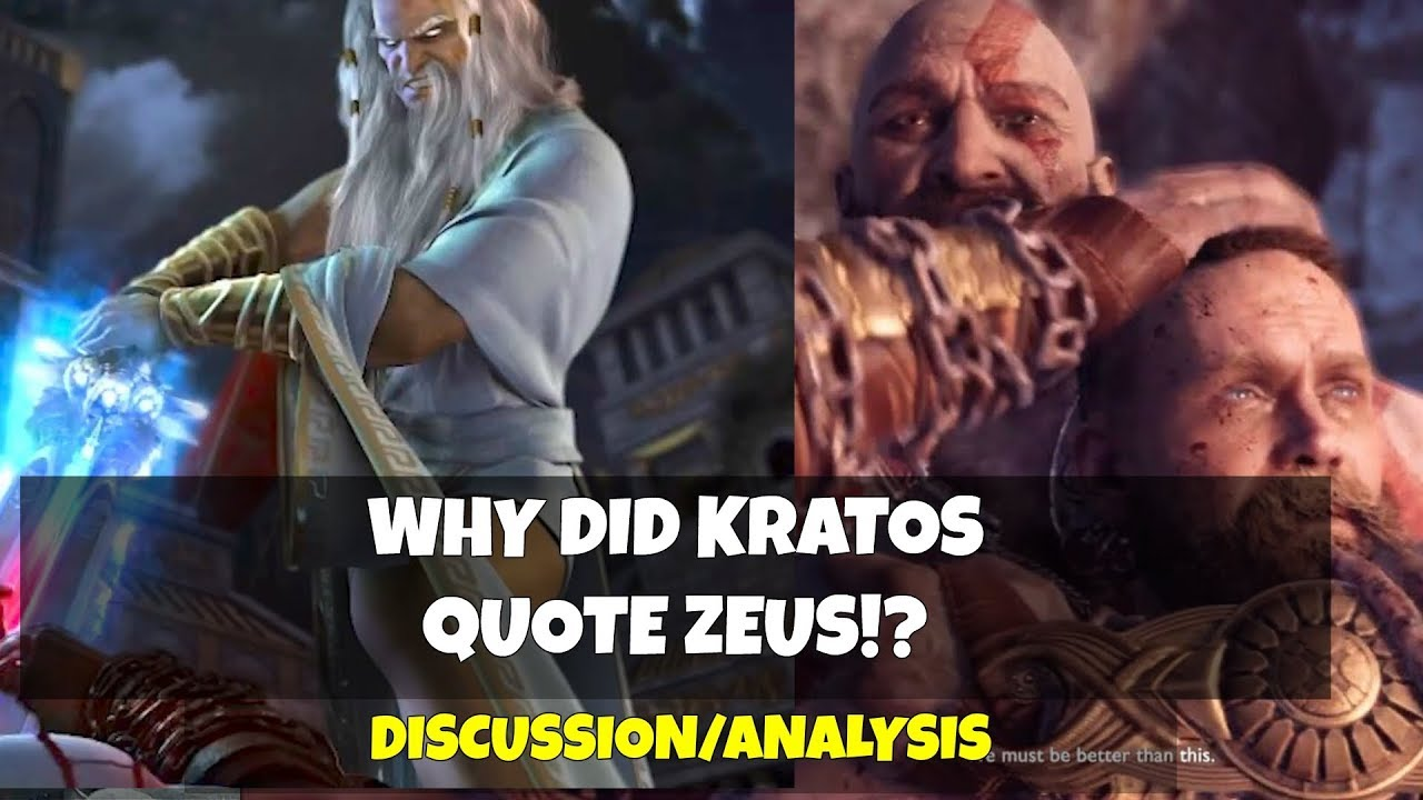 God Of War Why Did Kratos Quote Zeus At Baldur Discussion