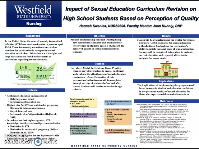 Impact of Sexual Education Curriculum Revision on High School Students Based on Perception of...