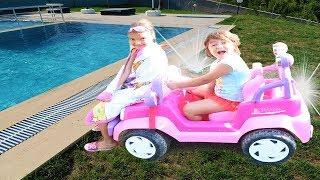 Pembe Prenses Arabamla Yolculuk! Magic Pink Princess Car
