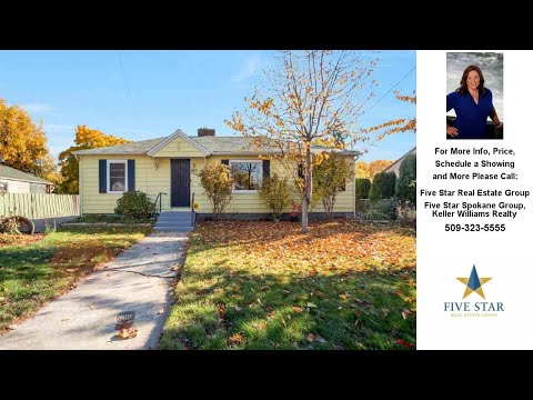 503 S Bowdish, Spokane Valley, WA Presented by Five Star Real Estate Group.