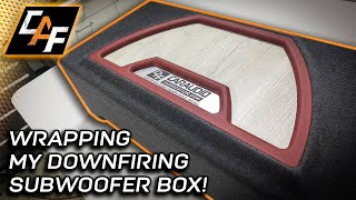 Perfect Upholstery! How to WRAP subwoofer enclosure - Carpet & Vinyl