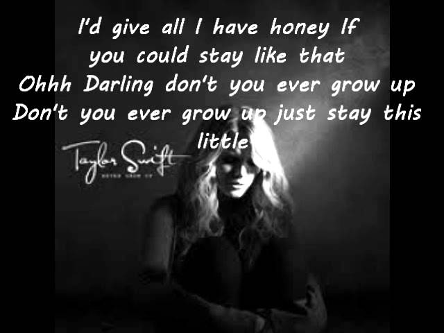 Taylor Swift Never Grow Up Lyrics Chords Chordify