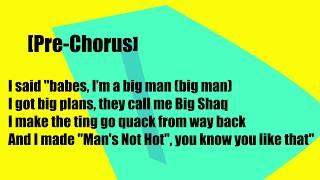 Big Shaq - Man Don't dance Lyrics