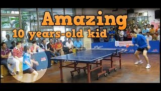 Table Tennis: Amazing 10 years old kid in China
