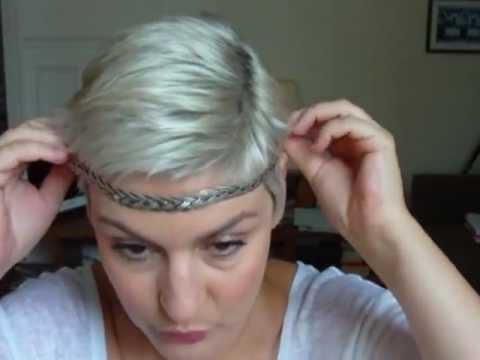 headband et cheveux courts youtube. Black Bedroom Furniture Sets. Home Design Ideas