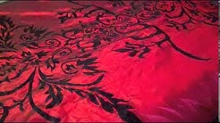 Grand Linen Red Flock Satin 7 PC Comforter Set Review