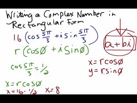 Coverting a Complex Number in Polar Form to Rectangular Form - YouTube